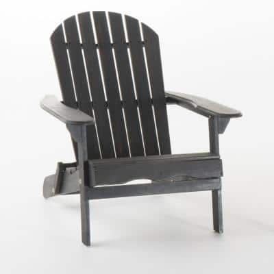 Obadiah Dark Grey Folding Acacia Wood Adirondack Chair