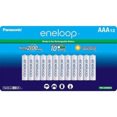 eneloop Ni-MH AAA Rechargeable Batteries (12-Pack)