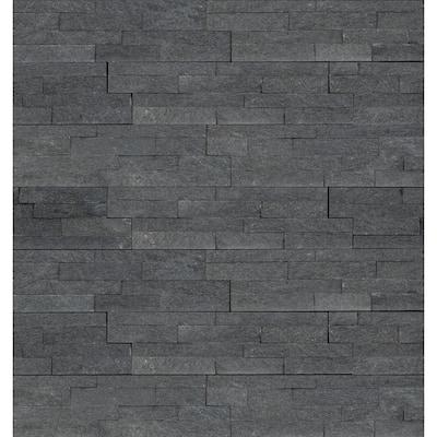 Coal Canyon Mini Ledger Panel 4.5 in. x 16 in. Natural Quartzite Wall Tile (5 sq. ft./Case)