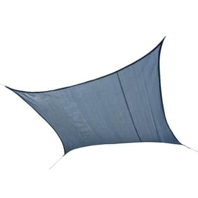 16 ft. W x 16 ft. L Square, Heavy-Weight Sun Shade Sail in Sea Blue (Poles Not Included) w/ Long-Life, Breathable Fabric
