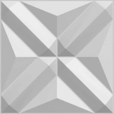 Falkirk Fifer 20 in. x 20 in. Paintable Off White Geometric Diamonds Fiber Decorative Wall Paneling (10-Pack)