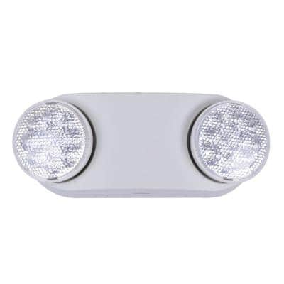 Oval 11-Watt Equivalent Integrated LED White Emergency Light with Ni-Cad 3.6-Volt Battery
