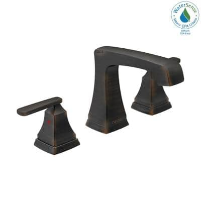 Ashlyn 8 in. Widespread 2-Handle Bathroom Faucet with Metal Drain Assembly in Venetian Bronze