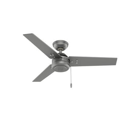Cassius 44 in. Indoor/Outdoor Matte Silver Ceiling Fan