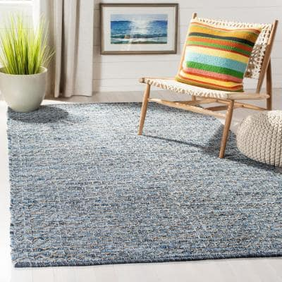 Montauk Blue 5 ft. x 8 ft. Gradient Abstract Striped Area Rug