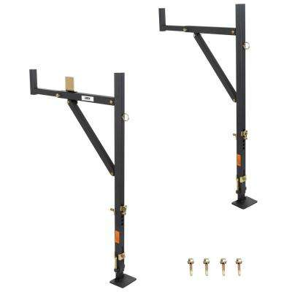 250 lbs. Adjustable No-Drill Steel Ladder Rack