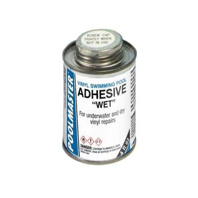 4-Ounce Can of Vinyl Swimming Pool Adhesive Wet