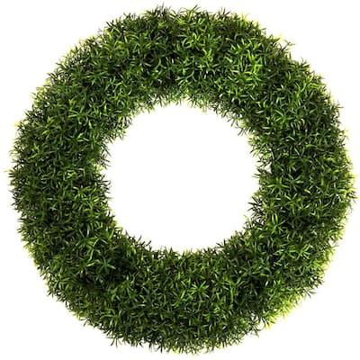 20 in. Round Grass Wreath