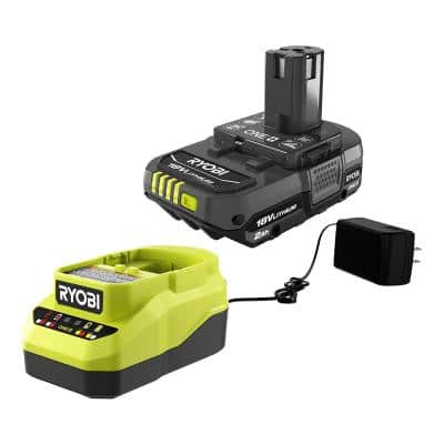 ONE+ 18V Lithium-Ion 2.0 Ah Compact Battery and Charger Starter Kit