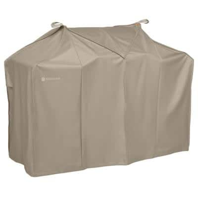 Storigami 70 in. L x 30 in. W x 49 in. H Easy Fold BBQ Grill Cover Goat Tan