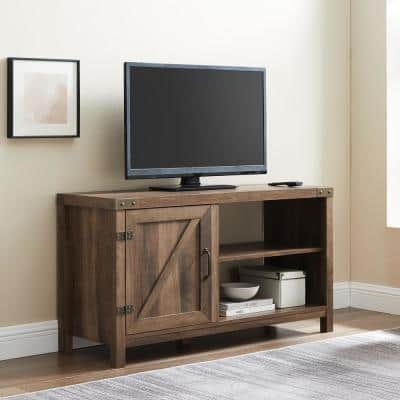 16 in. Rustic Oak Composite TV Stand 32 in. with No Additional Features