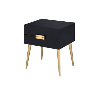Denvor Black and Gold End Table
