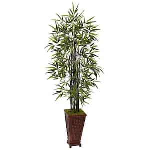 Indoor Black Bamboo Artificial Tree in Decorative Planter