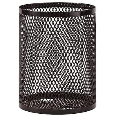 Portable 32 Gal. Black Diamond Commercial Trash Can