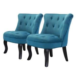 Jane Blue Tufted Accent Chair (Set of 2)
