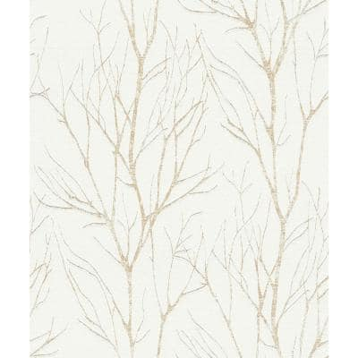 Botanical Gold Wallpaper Sample