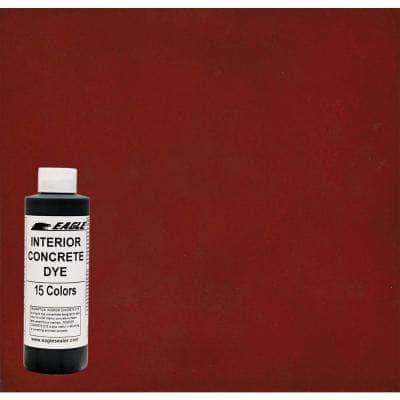 1 gal. Rhubarb Interior Concrete Dye Stain Makes with Water from 8 oz. Concentrate