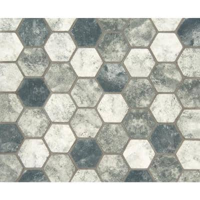 Urban Tapestry 12 in. x 12 in. x 6 mm Hexagon Matte Recycled Glass Mesh-Mounted Mosaic Tile (1 sq. ft.)