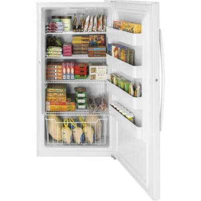 17.3 cu. ft. Frost Free Upright Freezer in White