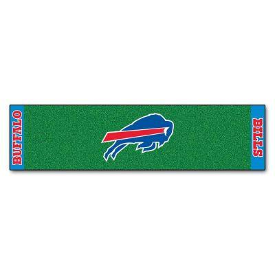 NFL Buffalo Bills 1 ft. 6 in. x 6 ft. Indoor 1-Hole Golf Practice Putting Green