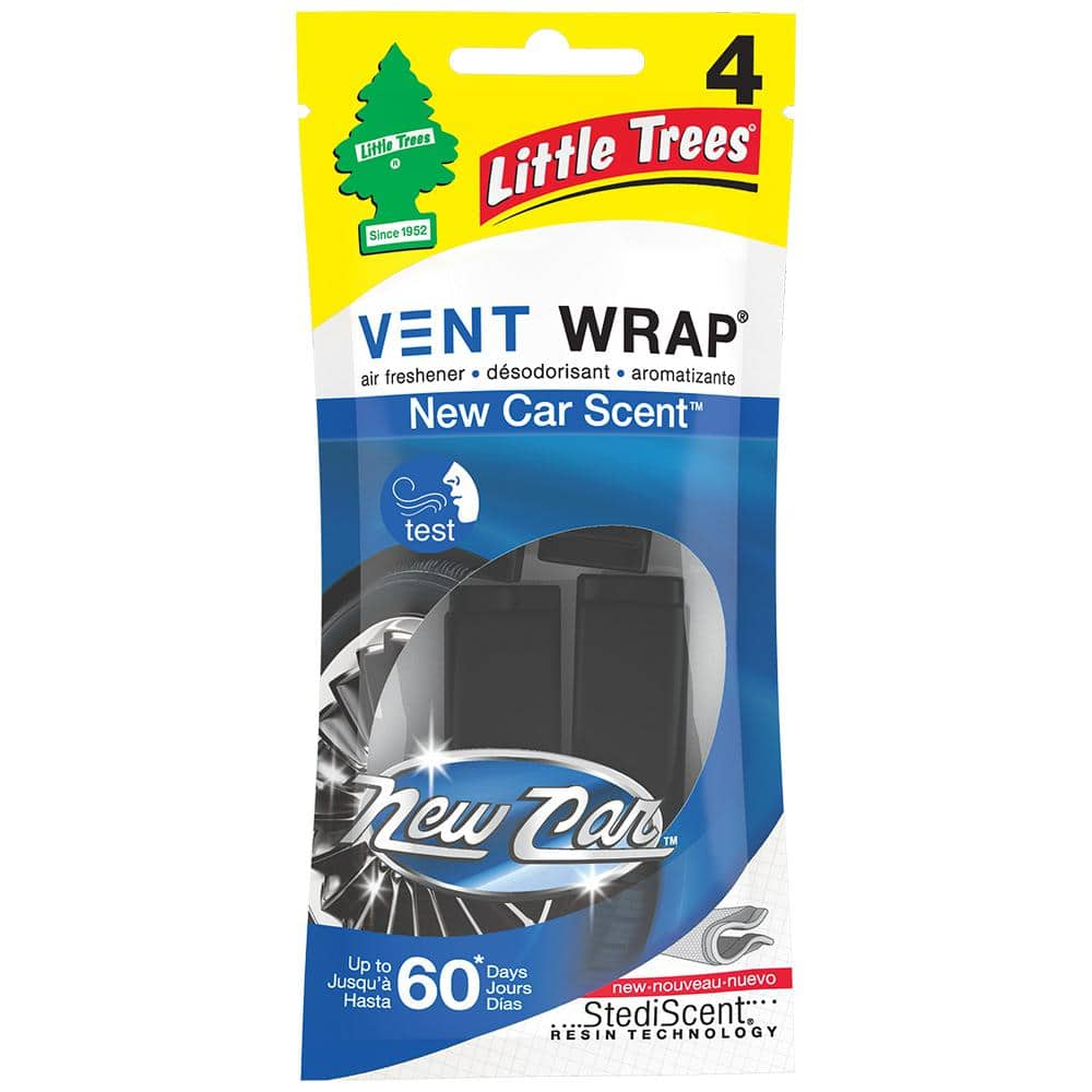 Little Trees New Car Scent Vent Wrap Air Freshener (4-Pack)