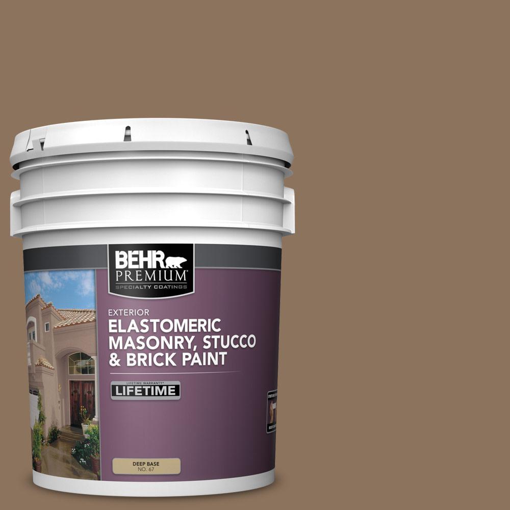 5 gal. #N260-6 Outdoor Cafe Elastomeric Masonry, Stucco and Brick Exterior Paint