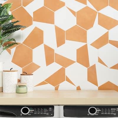 Eclipse Burst Orange 7.79 in. x 8.98 in. Matte Porcelain Floor and Wall Tile (6.03 sq. ft. / Case)
