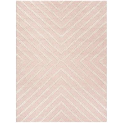 Kids Pink/Ivory 8 ft. x 10 ft. Geometric Area Rug
