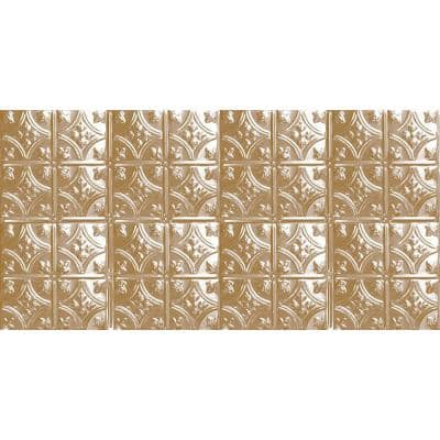 2 ft. x 4 ft. Glue Up or Nail Up Tin Ceiling Tile in Satin Brass (24 sq. ft./case)