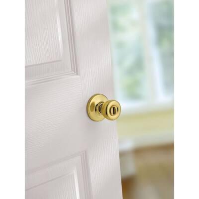 Tylo Polished Brass Bed/Bath Door Knob