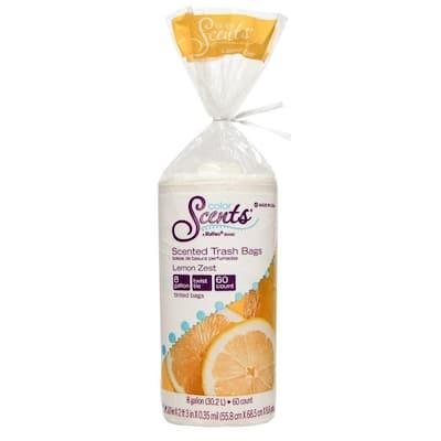 8 Gal. Twist Tie Lemon Zest Trash Bags (60-Count)