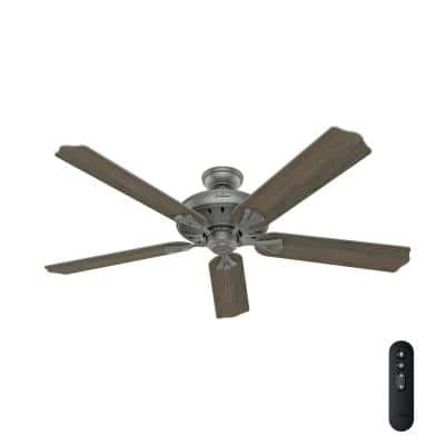Royal Oak 60 in. Indoor Matte Silver Ceiling Fan with Remote Control
