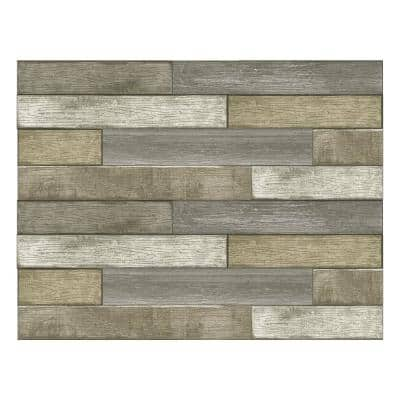 Brown Wood Planks Wall Decal