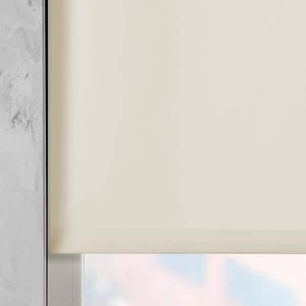 Cocoon By Coulisse Cut To Size Sand Cordless Light Filtering Fabric Motorized Roller Shade 35 In W X 72 In L 2010252 The Home Depot