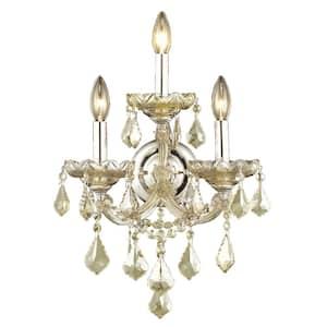 Worldwide Lighting Cascade 2 Light Chrome Clear Crystal Sconce W23511c8 The Home Depot