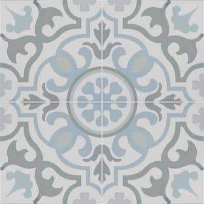 Take Home Blume Encaustic 8 in. x 8 in. Glazed Porcelain Floor and Wall Tile Sample