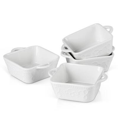 4-Piece 9.8 fl.oz. Ceramic Square Ramekin Dish (Set of 4)