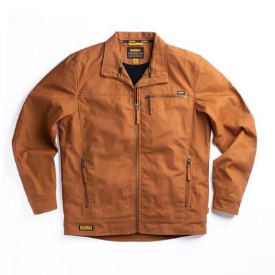Decatur Men's Size 3X-Large Tan Cotton/Lycra Jacket