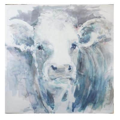 Unframed Square Canvas Acrylic Painting Cow Wall Art 40 in. H x 40 in. W