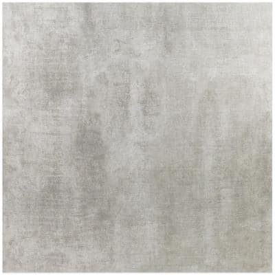 Essential Cement Silver 24 in. x 24 in. Matte Porcelain Floor and Wall Tile (15.49 Sq. Ft. / Case)