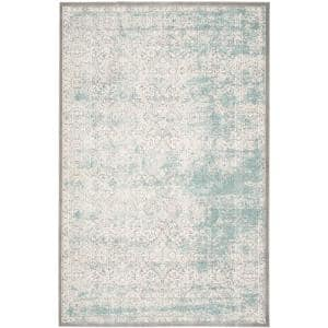 Safavieh Passion Turquoise Ivory 8 Ft X 11 Ft Area Rug Pas405b 8 The Home Depot