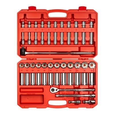 1/2 in. Drive 6-Point Socket and Ratchet Set (52-Piece)