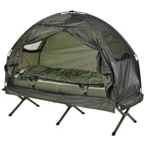 Deals on Outsunny Portable Camping Cot Tent w/Comfortable Air Mattress