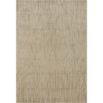 Loloi Ii Bowery Beige Pepper 18 X 18 Sample Contemporary 100 Polypropylene Pile Area Rug Bowebow 05bepg160s The Home Depot