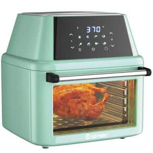 19 qt. Green Air Fryer Oven with Dehydrator Rotisserie