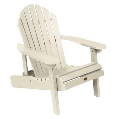Hamilton Whitewash Folding and Reclining Plastic Adirondack Chair