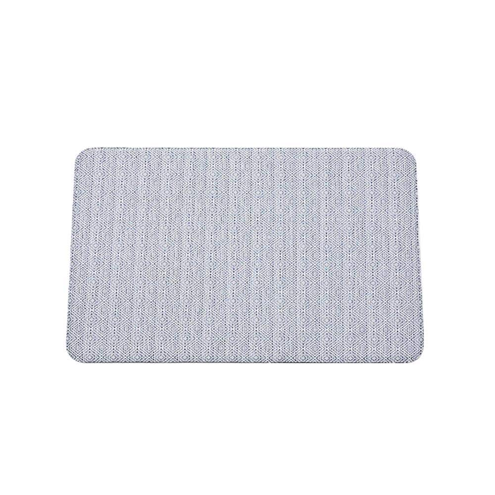 Nautica Gilly Light Blue White 20 In X 32 In Anti Fatigue Kitchen Mat Nak011844 The Home Depot