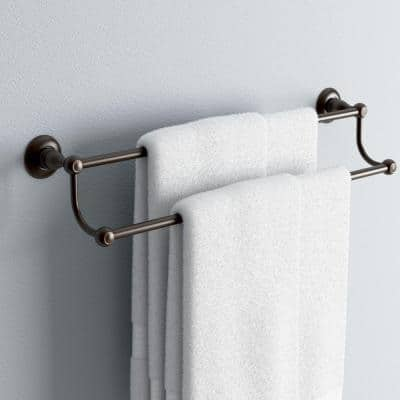 Porter 24 in. Double Towel Bar in Oil Rubbed Bronze
