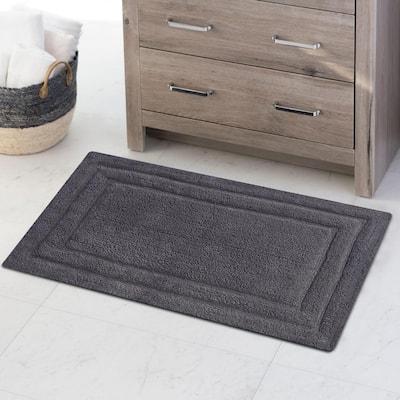 Classic Platinum Gray 34 in. x 21 in. 2-Piece Bath Rug Set