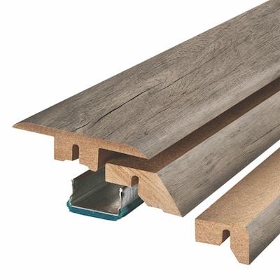 Summit Grey Oak 0.75 in. Thick x 2.37 in. Wide x 78.75 in. Length Laminate 4-in-1 Molding